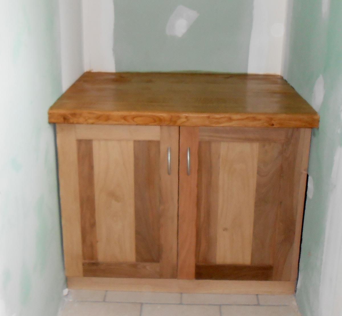 Meubles objets en bois sur mesure menuiserie drifford for Creation meuble salle de bain